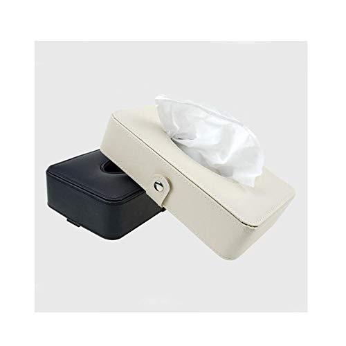 Aishanghuayi- ou Tejido de la caja,  la caja de pañuelos coche,  colgando atado Suministros de doble uso del automóvil,  cuero suave creativo parasol asiento trasero apoyabrazos del coche Interior del tec