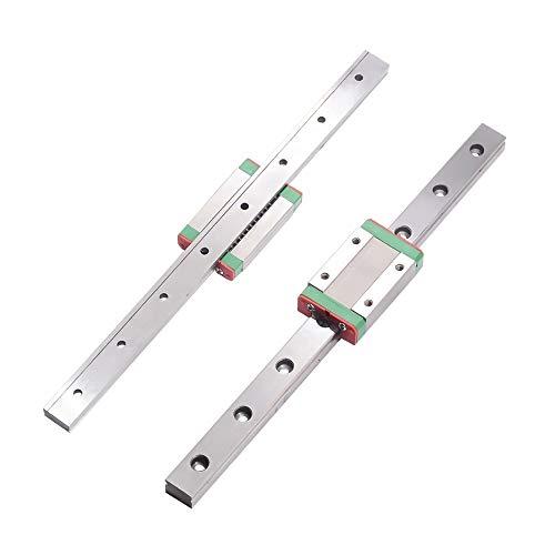 CNC-Zubehör-MGN7 C Mini Linearführungen können Länge 300 350 400 450 500 600 800 mm wählen, 1pcs Linearführung + 1pcs Slide (Color : MGN7 C, Size : 250mm)