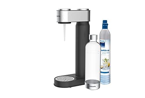 Philips Water ADD4902BK/10 GoZero Wassersprudler, plastik, 1 Liter, Schwarz