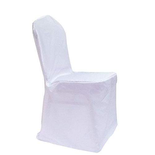 Stoff-Kollektion Stuhlhusse für Bankettstühle mit runder Lehne Weiß
