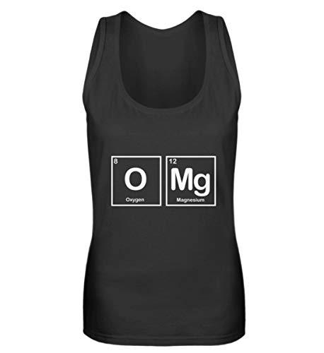 Fórmula química OMG – Profesor químico, escuela, ciencia, regalo, divertidos frases Cool – Camiseta de tirantes para mujer Negro L