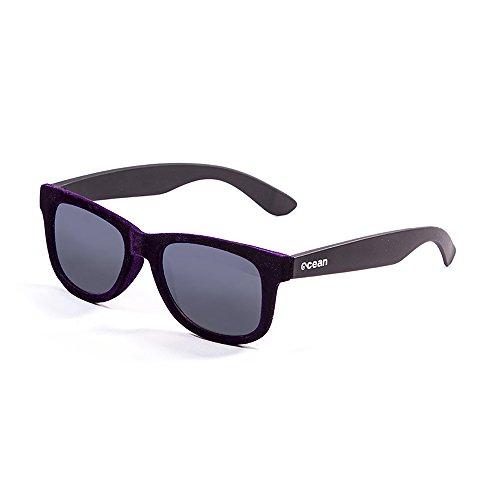 Ocean Sunglasses - beach velvet - lunettes de soleil - Monture : Violet Velours/Noir - Verres : Fumée (V18202.92)
