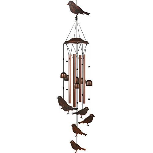 HANGOU Vögel Windspiele Garten Windspiele für Inneneinrichtung im Freien Geeignet für Hausgartendekoration, mit Haken