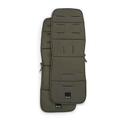 Elodie Details Colchoneta Universal para Silla de Paseo Reversible Acolchado Lavable CosyCushion 85 x 31 cm (Rebel Green)