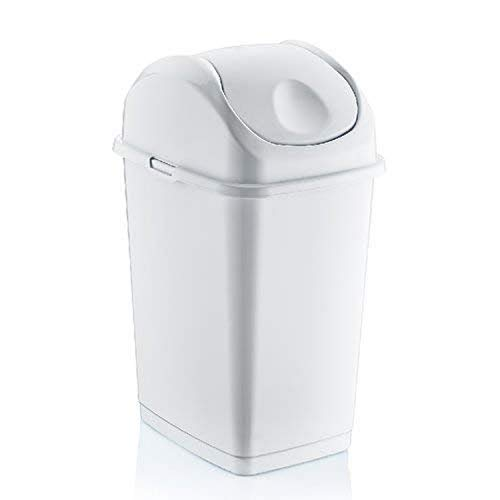 Superio 434 9.2 Gallon Slim Trash Can, Size: Pack of 1, White