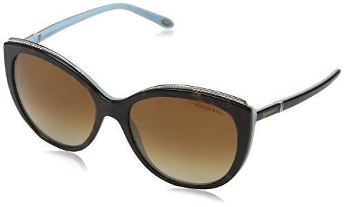 Tiffany & Co. 0TY4134B 81343B 56 Occhiali da Sole, Blu (Havana/Blue/Browngradient), Donna