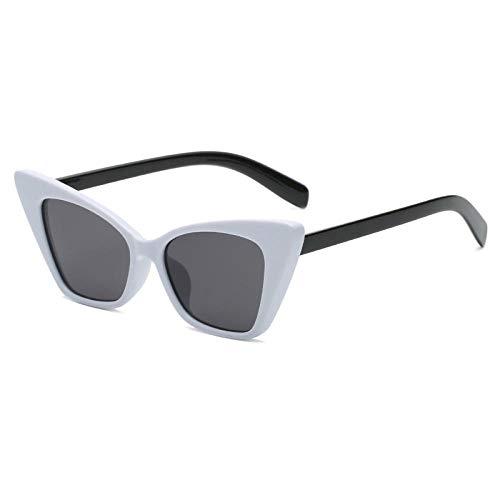 Gafas de sol de ojo de gato pequeñas para mujer, clásicas gafas de sol retro Cateye de moda verde lente para mujer adecuado para caminar y reunirse por The Sea