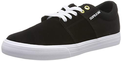 Supra Stacks II Vulc, Zapatillas de Skateboard Unisex Adulto, Negro (Black/Black-White-M 44), 40 EU