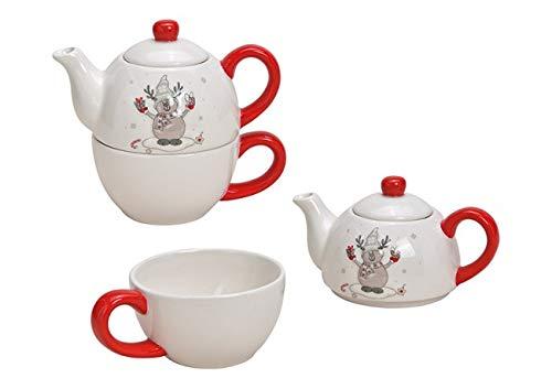 Tea for One Set mit Elch (Kanne & Tasse)