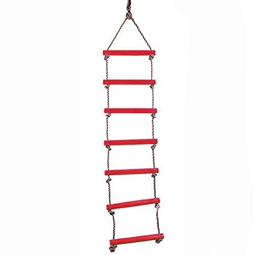YLJYJ La Grande balançoire d'échelle de Corde en Plastique à 6 échelons s'accroche jusqu'à 2,5 mètres de Haut, idéale pour escalader la Maison d'arbre