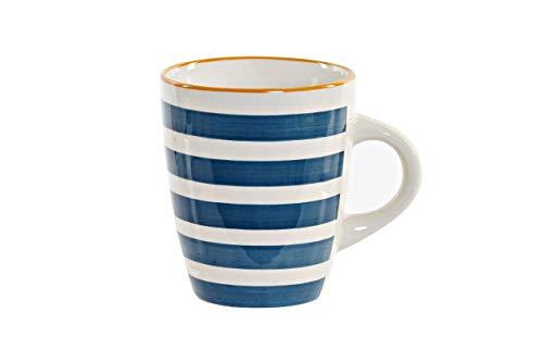 Wunderschöne Meeresbecher aus Keramik mit modernen und modernen Designs für Frühstück - Kaffee mit Milch, originelles und modernes Design - 330 ml - 1 Stück