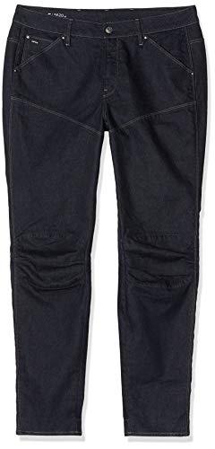 G-STAR RAW Damen 5620 Elwood 3D Mid Waist Boyfriend Jeans, Blau (Rinsed 7556-082), 27W / 30L