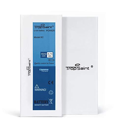 Trop Saint® Batteria compatibile con iPhone 5C (1510mAh, 3.8V) - Ricambio Completo di Alta Qualita con Adesivi, Attrezzi e Pellicola Protettiva in Vetro Temprato