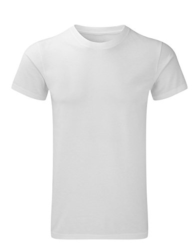 Russell Collection - T-Shirt de Sport - Homme Blanc Blanc
