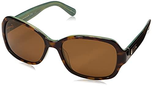 Kate Spade New York Women's Akira Rectangular Sunglasses, Tortoise Mint Polarized, 54 mm