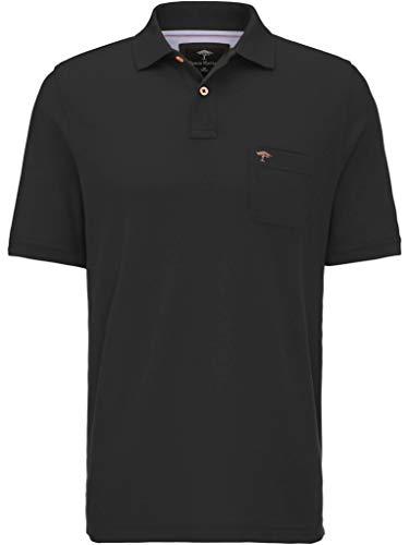 FYNCH-HATTON Basic Poloshirt aus Piqué mit Brusttasche aus Reiner Baumwolle, schwarz, M