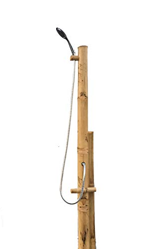 Bamboo Outdoor Shower | Tropical | Sustainable | Natural Bamboo | Handmade | 7 ft. Tall