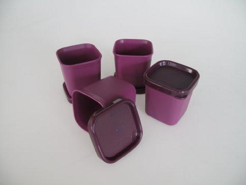 TUPPERWARE Set de 4 Flaneros Microvapor 101° de 80 ml púrpura