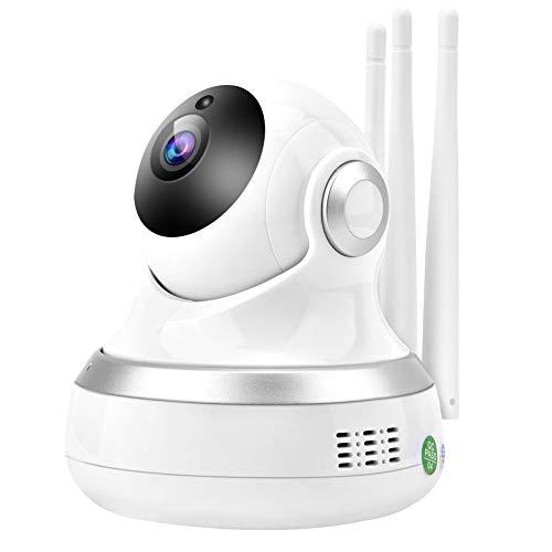 Bewinner 1080P WiFi-camera met nachtzicht, babyfoon HD-camera, draadloze slimme WiFi-monitorcamera, bewakingscamera bewegingsdetector voor mobiele telefoon / computer videobewaking op afstand (2 miljoen pixels)