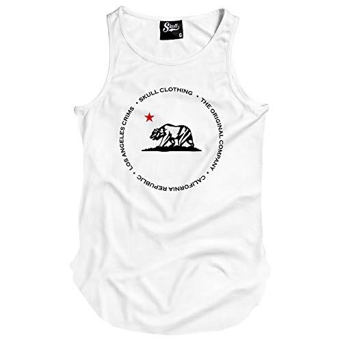 Camiseta Regata Longline California Republic Crims (M, Branco)