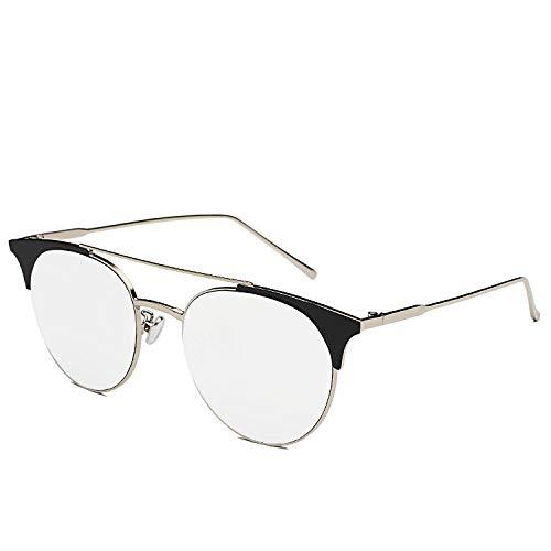 Sonnenbrillen,Die Gleiche Retro-Sonnenbrille Netto Rote Sonnenbrille Treibt Den Modetrend Der Männer An, Silberner Rahmen Weiß Reflektierend C1