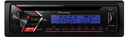 Pioneer DEH-S100UBB | 1DIN Autoradio mit roter Tastenbeleuchtung, Display blau | CD-Tuner mit RDS | MP3 | USB | AUX-Eingang | ARC App