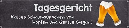 Daggerecht koud schuimzoepje Hopfen Gerste Vegan Bier Straatbord Metal Tin Street Sign 10 x 46 cm