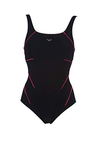 ARENA Damen Badeanzug W Jewel Loc Cup, Bodylift, C-Cup, 1 Stück, Damen, 2A085, Nero (Black/Calypso), 38