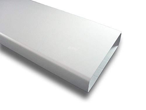 Flachkanal Lüftungskanal Kunststoffkanal Abluft Zuluft Lüftung System 125 (60x204), Länge 1 m