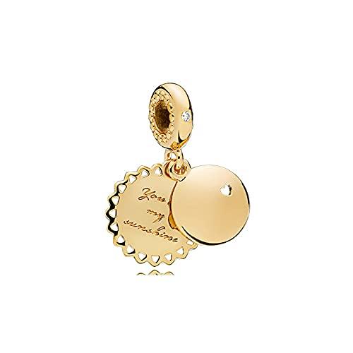 LISHOU DIY S925 Plata De Ley Color Dorado Magnolia Trébol De Cuatro Hojas Sweet Pod Style String Colgante Pandora Pulseras Charms Beads Jewelry Trendy Women D18