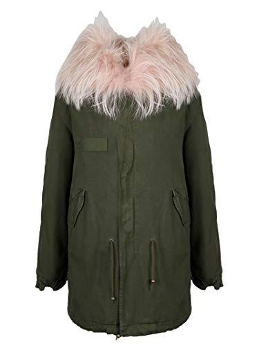 MR&MRS ITALY Luxury Fashion Damen PM388SC39XCSHFO6060 Grün Baumwolle Mantel | Jahreszeit Outlet