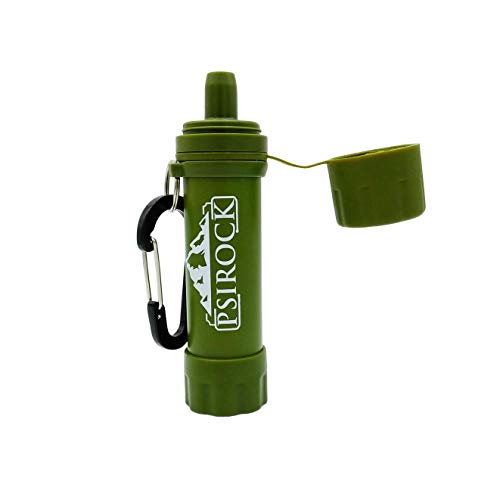 Filtro agua supervivencia accesorios | No necesita pastillas potabilizadoras de agua | Bushcraft Vivac Acampada Montaña Filtro purificador de agua Supervivencia Filtro de agua personal portátil mini