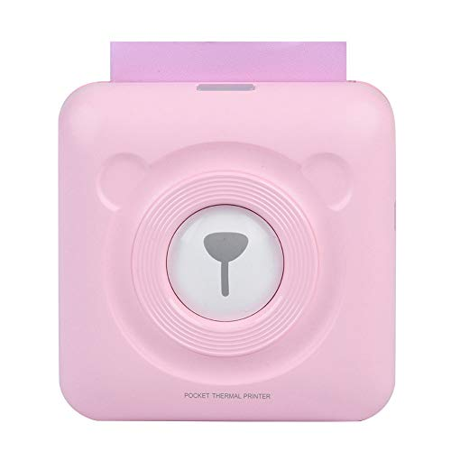 ASHATA Mini Bluetooth Printer - Wireless Paper Photo Printer Portable Instant Mobile Printer for iPhone/iPad/Mac/Android Devices (Pink)