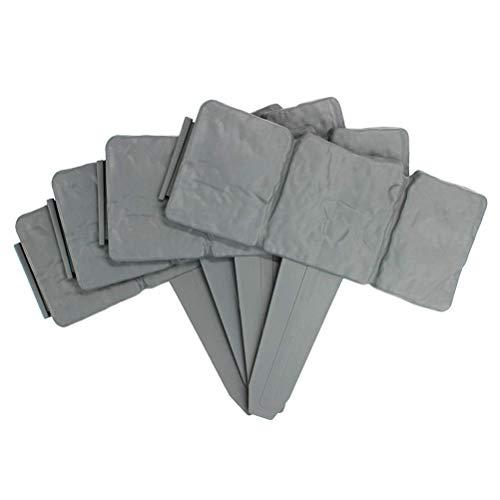 Excras Rasenkante Stein, Palisade Grau mit Steinoptik Länge Beeteinfassung Granit Optik Randsteine UV beständig Beeteinfassungen Rasenkanten Palisade