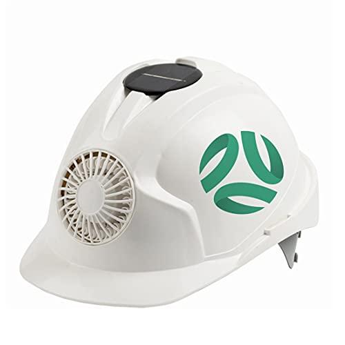 KLMM Casco de Ventilador de energía Solar de Australia Casco de Seguridad para Trabajo al Aire Libre Casco Protector para el Lugar de Trabajo de construcción (Color : White2) ⭐