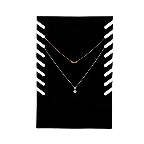 Fockety Exhibición de la joyería, Percha Negra de la joyería, exhibición práctica de la Cadena Colgante de la Franela para Las joyerías para Las ferias