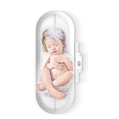 MYLW Carga USB Báscula para Bebé, Infantil Digital báscula con Display Retroiluminado,para niños pequeños Capacidad de hasta 100kg