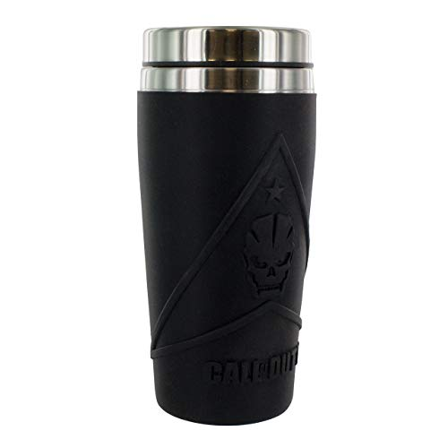 Call of Duty Travel Mug, Stainless Steel | Reuseable Commuter Cup | Insulated Coffee & Tea Flask | Easy Clean | Double Walled Insulation | 450ML Capacity | Spill Proof