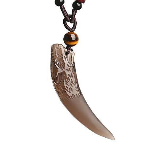 Nordic Vikingo Diente De Lobo Colgante, Collar para Hombre