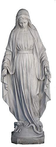 Virgen INMACULADA 46x46x176cm. Estatua Religiosa Imagen DE Piedra Clasica