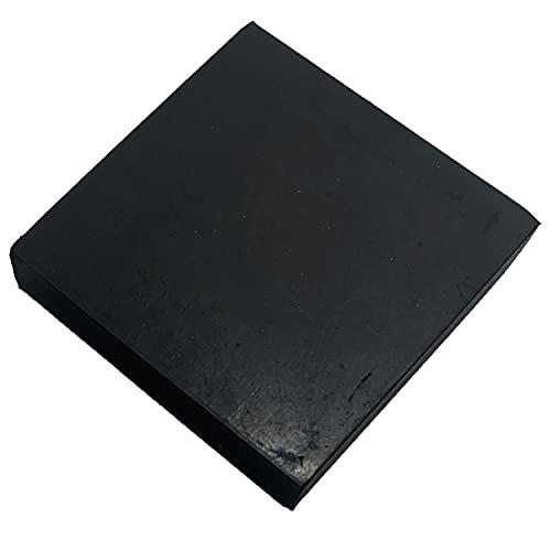ゴム板 四角 幅100mm 滑り止め付 緩衝材 傷防止 保護 家具(20mm厚 1個)