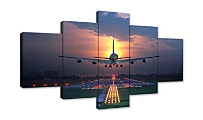 5 Panels Canvas Painting Print on Canvas Print Poster for Living Room Bedroom Bathroom Stretched and Framed Ready to Hang by