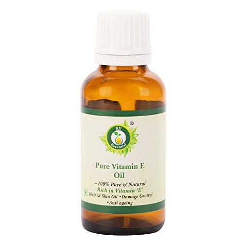 R V Essential Aceite de vitamina E pura 30ml (1.01oz)- (100{ab1aed78bd11bb58ca04c747c242e3060ec8c2574fb9660007461af680c3f1b9} Puro y Natural Rico en Vitamina E) Pure Vitamin E Oil