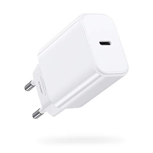 JSAUX Cargador USB C 20W, Carga Rápida Power Delivery 3.0