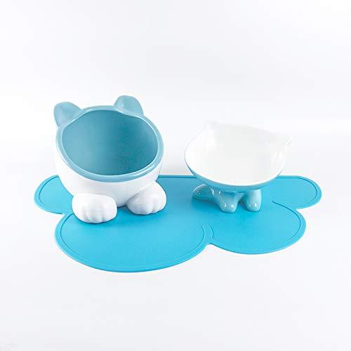 SGXDM Kat kom dubbele kom kat pot kat voedsel kom keramische kat hond waterbak waterbak gemakkelijk te reinigen multifunctionele verwarming, G