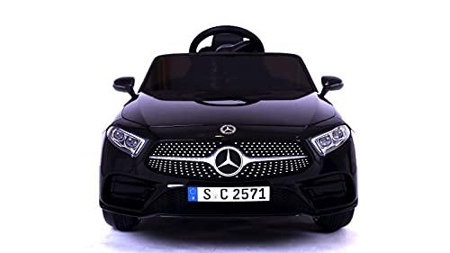 TOYSCAR electronic way to drive Auto Macchina Elettrica per Bambini 12V Mercedes CLS 350 AMG con Sedile in Pelle Telecomando 2.4 GHz Porte Apribili e MP3
