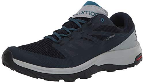 SALOMON Shoes Outline GTX, Chaussures de randonnée Homme, Multicolore (Navy Blazer/Quarry/Lyons Blue), 44 EU