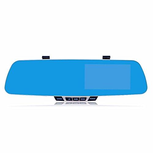 Lacaca Dash Cam, doppia lente auto telecamera video registratore per auto, veicoli anteriore e posteriore, schermo 4,3pollici, 1080p dvr con 32GB Micro SD incluso