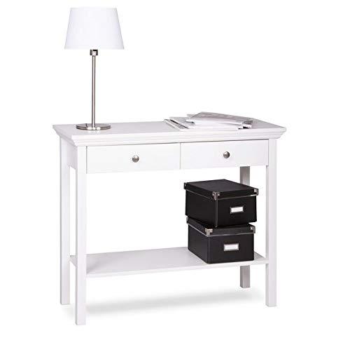 MJC Konsole Landwood, Konsolentisch, Telefontisch, Landhausstil Weiß, Wohnmöbel