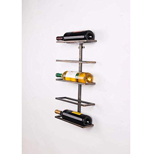 DLY - Botellero de hierro americano de bronce para colgar en la pared, estante para vino, vino, vino, bar, pared, 40 x 9,5 x 27 cm, 68 x 11 x 38 cm, bonito, 40*9.5*27cm